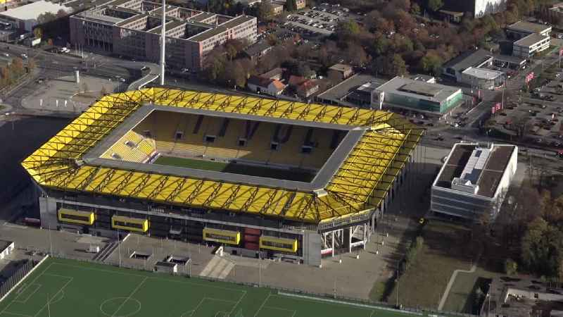 Football stadium 'Tivoli' of the football club Alemannia Aachen in Aachen in the state North Rhine-Westphalia