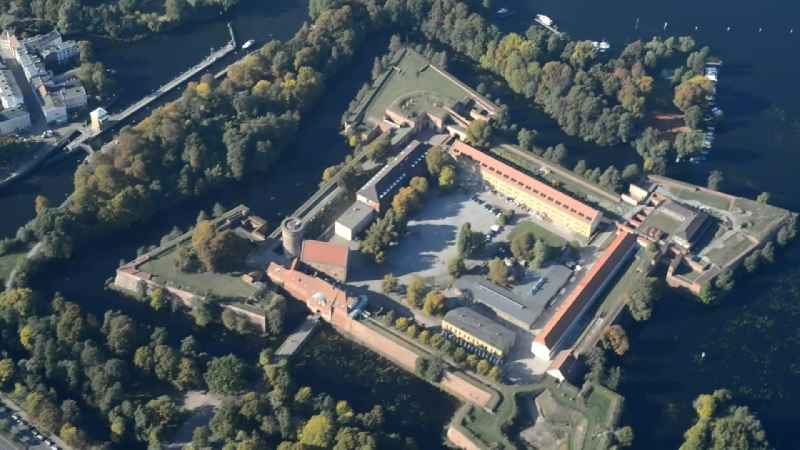 View of Spandau Citadel, one of the most important and best preserved Renaissance fortresses in Europe with a museum and a large event area for concerts
