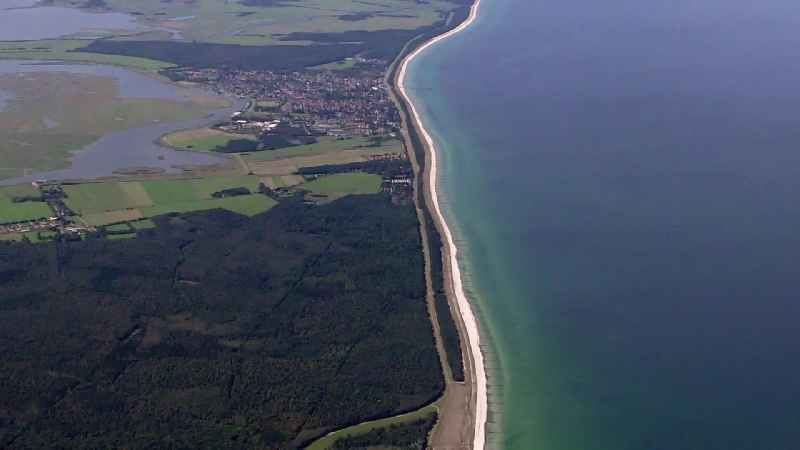 Coastline on the sandy beach of Baltic Sea in Born am Darss in the state Mecklenburg - Western Pomerania