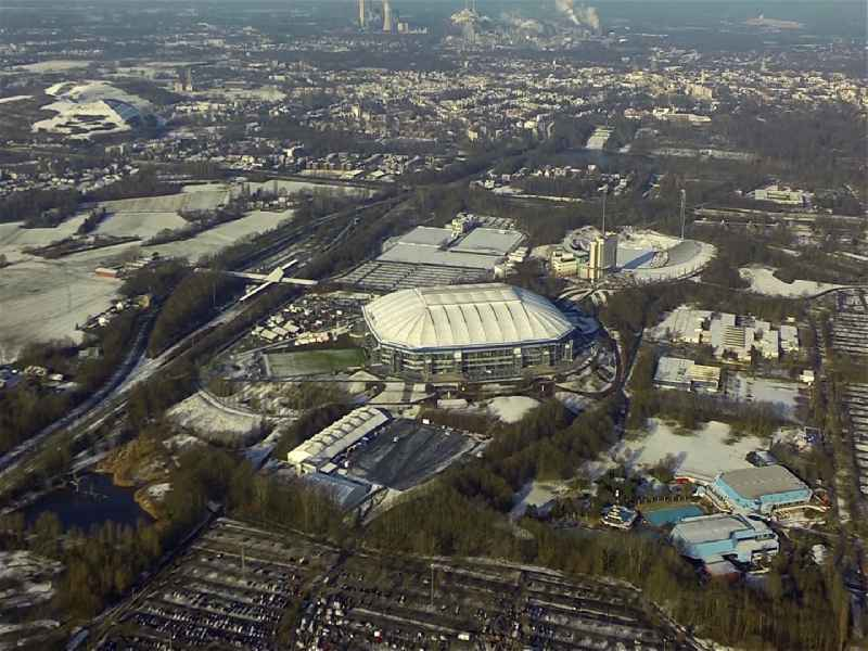 Video Stadium and Sports Park VELTINS Arena in Gelsenkirchen in North Rhine-Westphalia