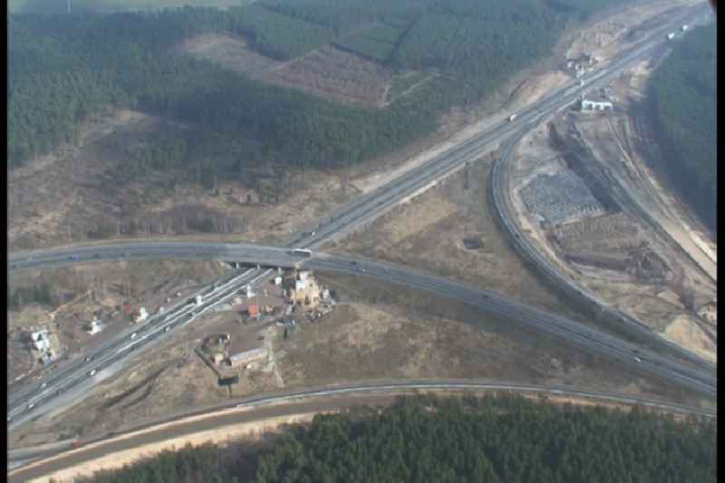 Video - view of Construction site of the junction Havelland at the motorway A10 and A24 in the state Brandenburg