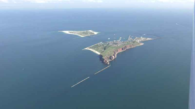 Coastal area of the North Sea - Island Helgoland in the state Schleswig-Holstein