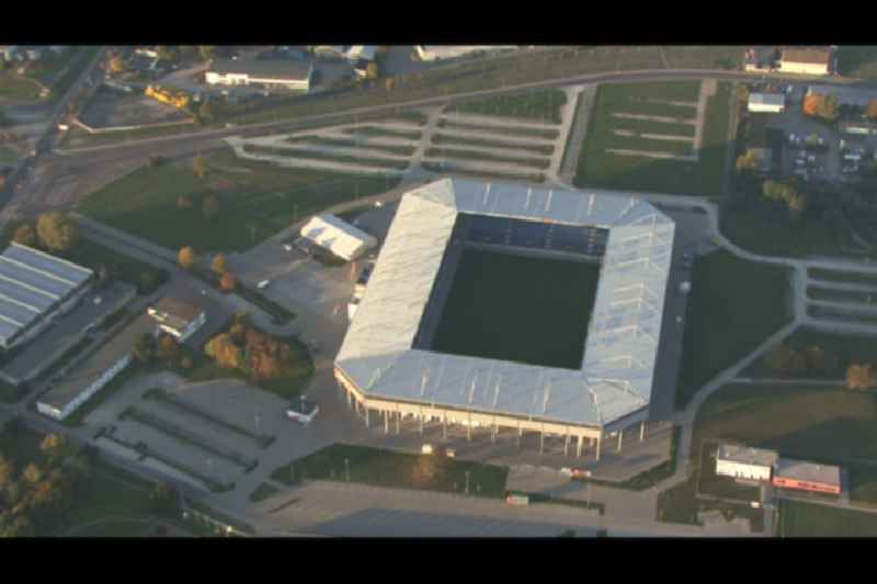 Sports facility grounds of the MDCC Arena stadium in Magdeburg in the state Saxony-Anhalt.