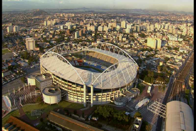 Video Sport Venue of the Estadio Olimpico Joao Havelange - the venue of the 15th Pan-American Games in 2007 and the 2016 Summer Olympics and Summer Paralympics in 2016. The arena is home to the football club Botafogo in Rio de Janeiro in Brazil