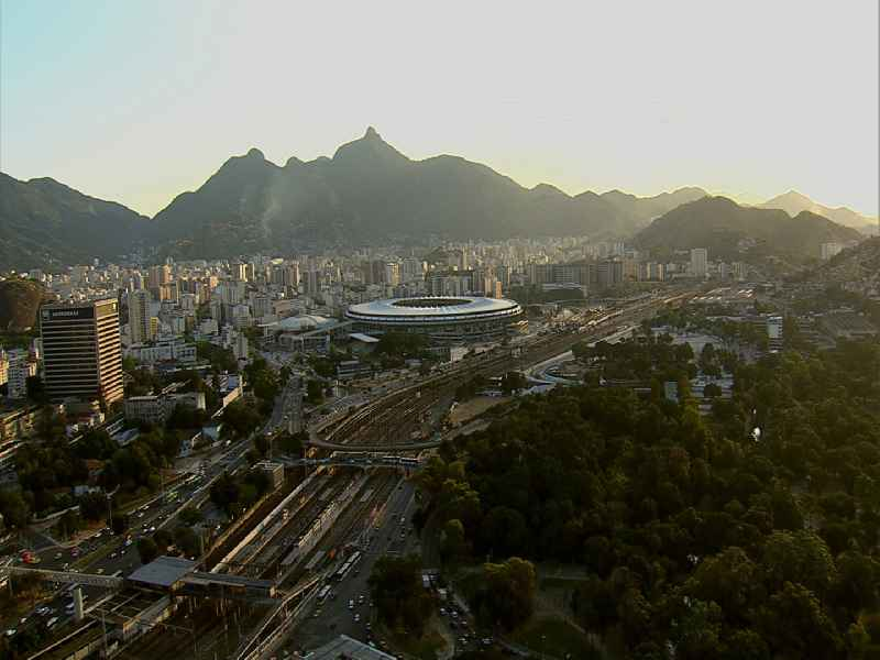 Video Football stadium and concert hall in Rio de Janeiro, Brazil, during the 2014 FIFA World Cup renovated. The plant is used for soccer games, sports competitions and concerts. Openings for the 15th Pan American Games and the 2016 Summer Olympics and the Paralympics 2016, the hall is used